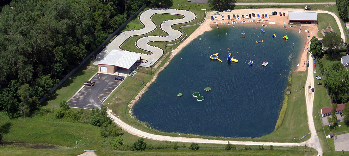 Overhead View of Crystal Lake Recreation and RV Park