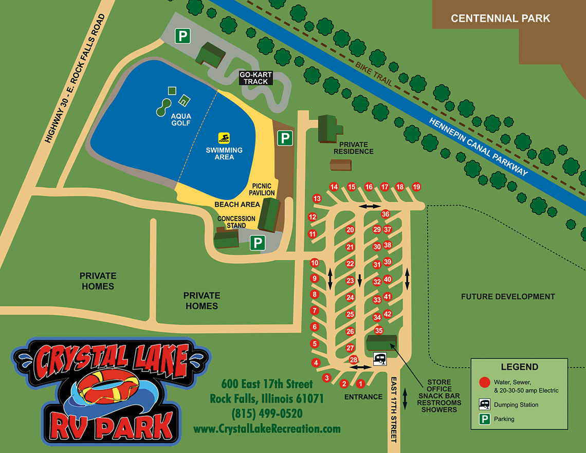 Crystal Lake Park Recreation Campground Map